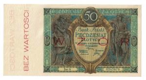 50 złotych, 1925, WZÓR