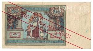 20 złotych, 1931, WZÓR