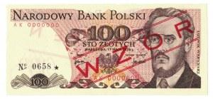 100 zł, 1976, WZÓR