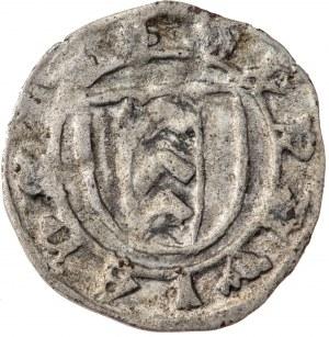 Śląsk, Księstwo Opawskie, halerz m. Opawy i Głubczyc po 1440 roku, rzadki i bardzo ładny, R3