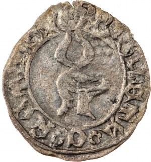 Śląsk, Księstwo Raciborskie - Księstwo raciborskie, Jan V Młodszy 1456-1493, halerz, mennica Racibórz, R3, bardzo rzadki