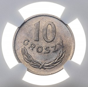 10 groszy 1949, miedzionikiel, MS 66