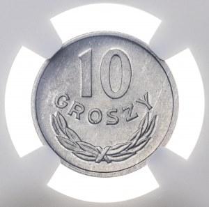 10 gr 1967, aluminium, MS 67