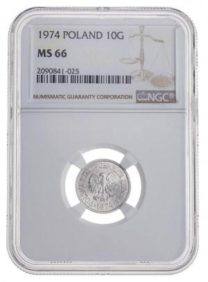 10 gr 1974, aluminium, MS 66
