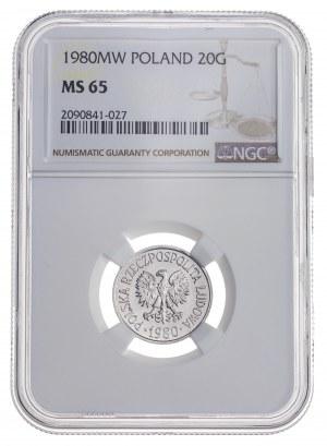 20 gr 1980, aluminium, MS 65