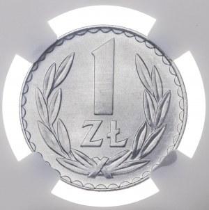1 zł 1975, bez znaku mennicy, aluminium
