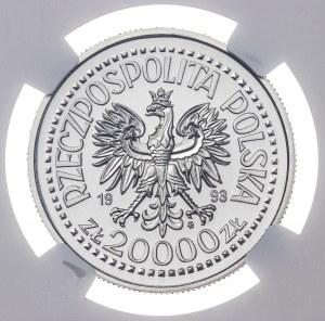 20 000 zł 1993, KAZIMIERZ JAGIELLOŃCZYK, POPIERSIE, PRÓBA NIKIEL