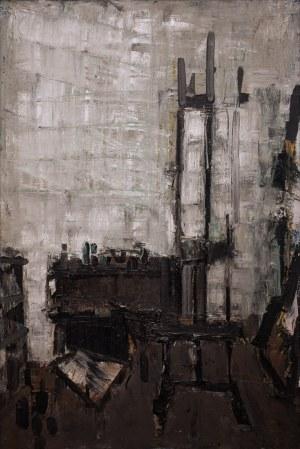 Jacek SIENICKI (1928 - 2000), Wnętrze pracowni szare, 1986 r.