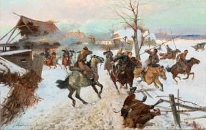 Czesław Wasilewski, Potyczka Ułanów Jazłowieckich z oddziałem kozaków, 1920
