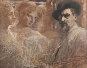 Franciszek Żmurko, Autoportret z muzami, ok. 1910
