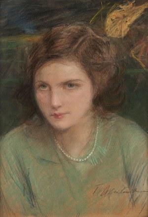 Teodor Axentowicz, Portret młodej kobiety z perłami