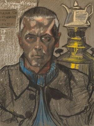 Stanisław Ignacy Witkiewicz Witkacy, Autoportret z samowarem, 1917