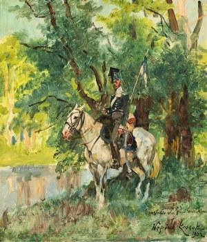 Wojciech Kossak, Ułan na koniu, 1932