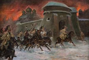 Jerzy Kossak, Odwrót spod Moskwy, 1922