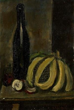 Zygmunt Menkes, Martwa natura z butelką i bananami, lata 20. XX w.