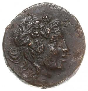 brąz 85-65 pne, Aw: Głowa Mitradatesa jako wieńcu dioni...
