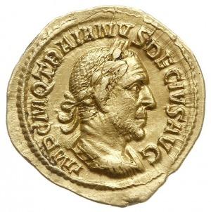 aureus 249-251, Rzym, Aw: Popiersie cesarza w prawo, IM...