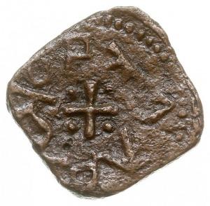 asprokastron (grosz), Aw: Głowa byka, Rw: Krzyż, w kąta...