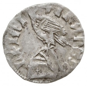 dinar (półgrosz), Aw: Tarcza herbowa, MLADISLAI WAIWODE...