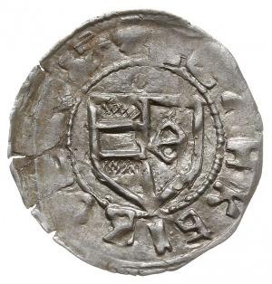 dinar (półgrosz), Aw: Tarcza herbowa, w jej prawym polu...
