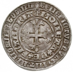 podwójny groot 1365-1384, mennica Gent lub Mechelen, Aw...