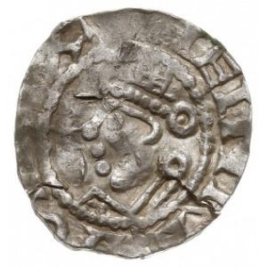 denar, Aw: Popiersie króla w lewo, Rw: Krzyż z kulkami ...