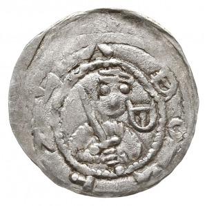 Denar 1157-1166, Aw: Popiersie z mieczem na wprost, BOL...