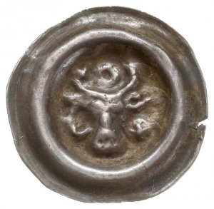Meklemburgia, brakteat 1. połowa XIII w., Głowa wołowa ...