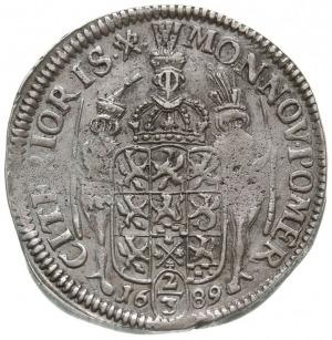 2/3 talara (gulden) 1689, Szczecin, odmiana napisu CARO...