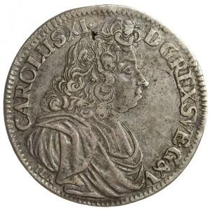 2/3 talara (gulden) 1690, Szczecin, odmiana napisu CARO...