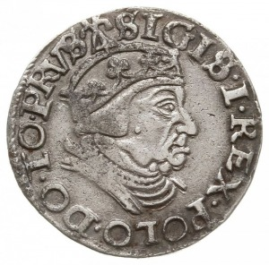 trojak 1539, Gdańsk, na rewersie interpunkcja w formie ...