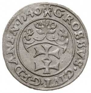 grosz 1540, Gdańsk, PN.13-Dut.190, bardzo ładny