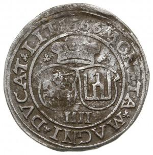 czworak 1566, Wilno, odmiana z mniejszą Pogonią na rewe...