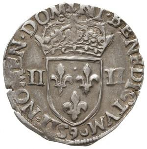 1/4 ecu 1579, Rennes, Duplessy 1133, moneta z aukcji WC...