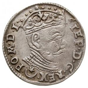 trojak 1581, Wilno, z herbem Leliwa pod popiersiem, Ige...