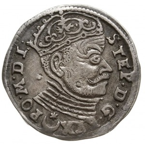 trojak 1583, Wilno, odmiana z herbem Leliwa pod większy...
