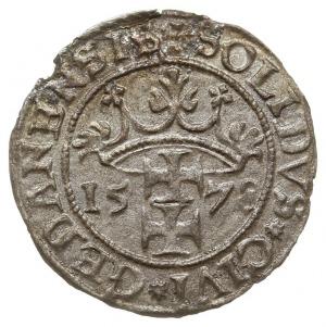 szeląg 1578, Gdańsk, drobna wada mennicza krążka, delik...