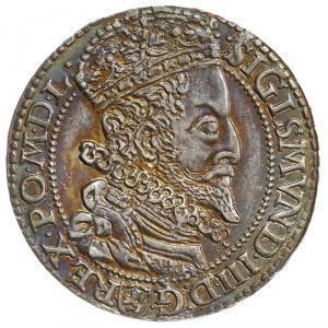 szóstak 1599, Malbork, rzadsza odmiana z dużą głową kró...