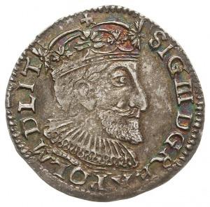 trojak 1592, Olkusz, na awersie odmiana z końcówką napi...