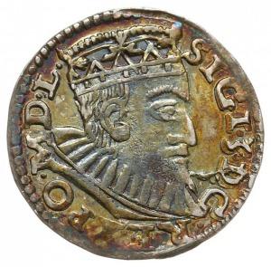 trojak 1594, Poznań, długa broda króla, Iger P.94.8.a(R...