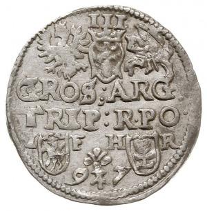 trojak 1597, Poznań, popiersie z długą kryzą, interpunk...