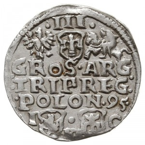 trojak 1595, Bydgoszcz, odmiana z literami F-S na dole ...