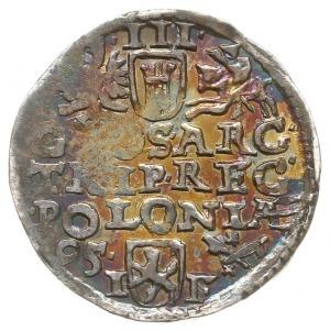 trojak 1595, Wschowa, Iger W.95.1.b (R), tęczowa patyna