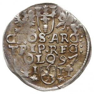 trojak 1597, Wschowa, Iger W.97.1.a (R3), mennicza wada...