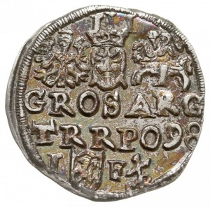 trojak 1598, Lublin, na rewersie monogram MR (Melchiora...