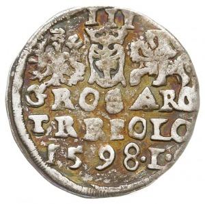 trojak 1598, Lublin, odmiana z literą L w jednym wiersz...
