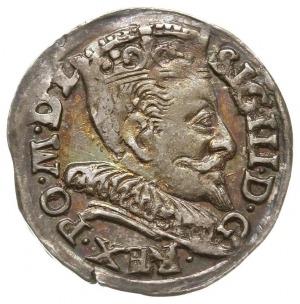 trojak 1593, Wilno, data u dołu po bokach herbu Demetri...