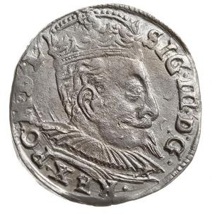 trojak 1598, Wilno, rzadko spotykane popiersie króla, p...