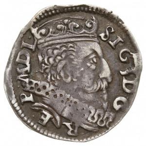 trojak 1601, Wilno, na rewersie herb Łabędź i litera W ...