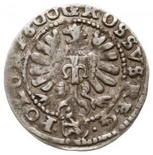 grosz 1600, Kraków, Aw: Popiersie króla w koronie w pra...